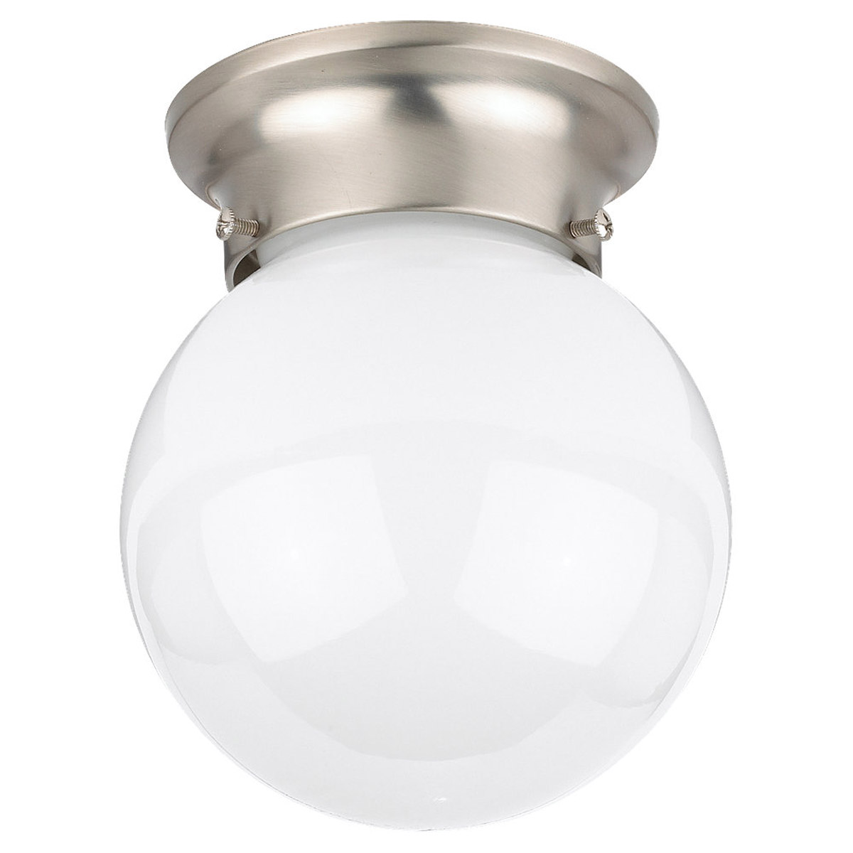 Sea Gull Lighting Tomkin 1 Light Flush Mount in Brushed Nickel 5366-962