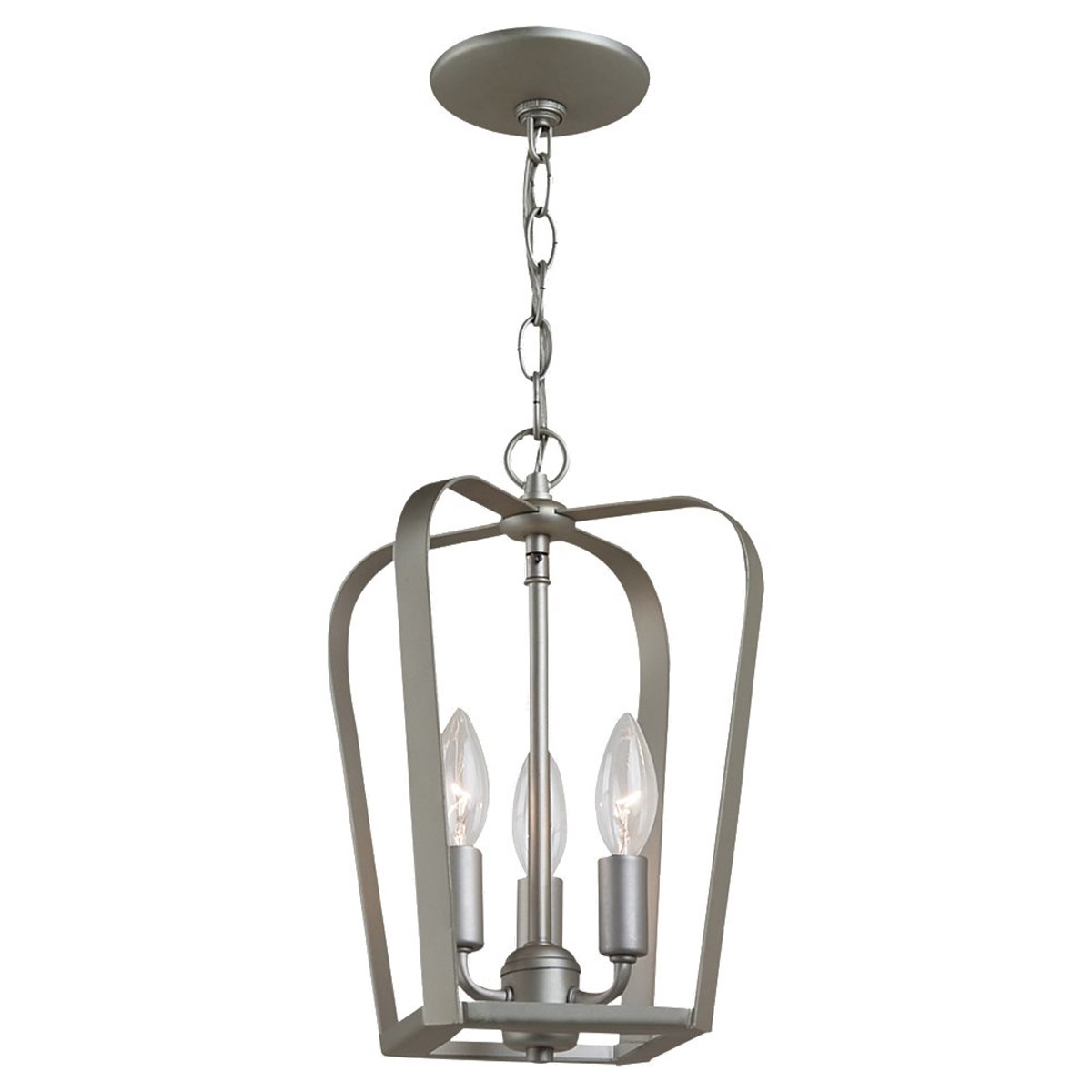 Sea Gull Lighting Windgate 3 Light Foyer Pendant in Painted Brushed Nickel 54940-753 photo