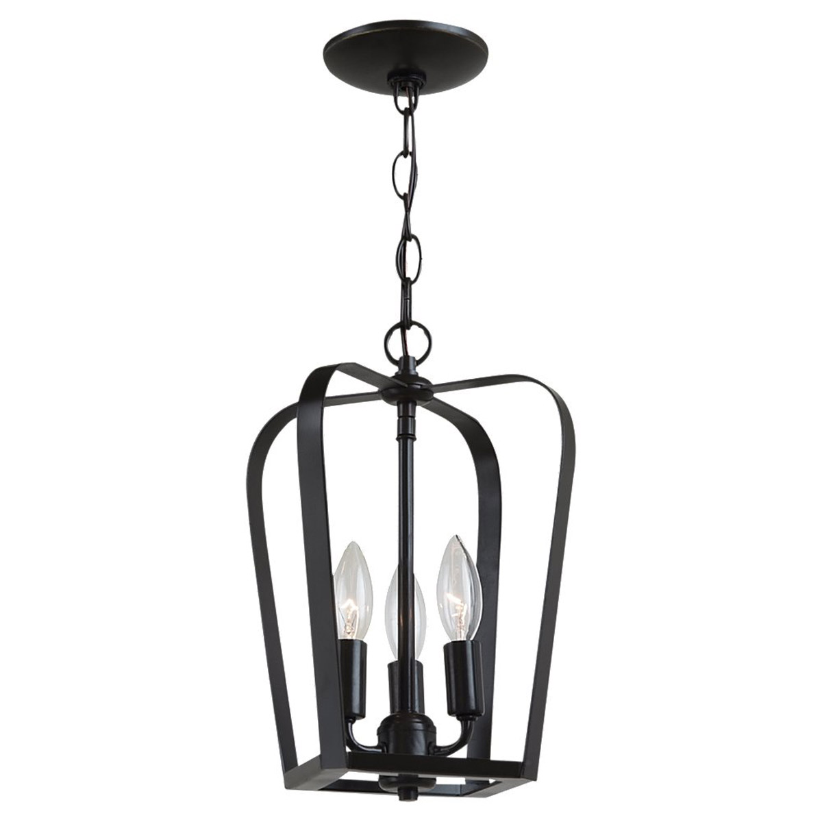 Sea Gull Lighting Windgate 3 Light Foyer Pendant in Heirloom Bronze 54940-782