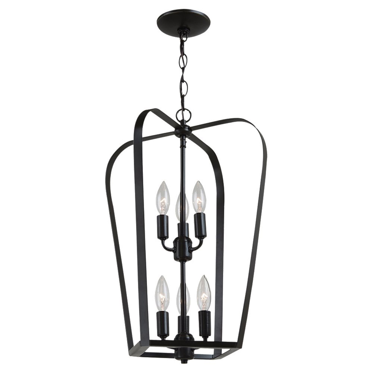 Sea Gull Lighting Windgate 6 Light Foyer Pendant in Heirloom Bronze 54941-782