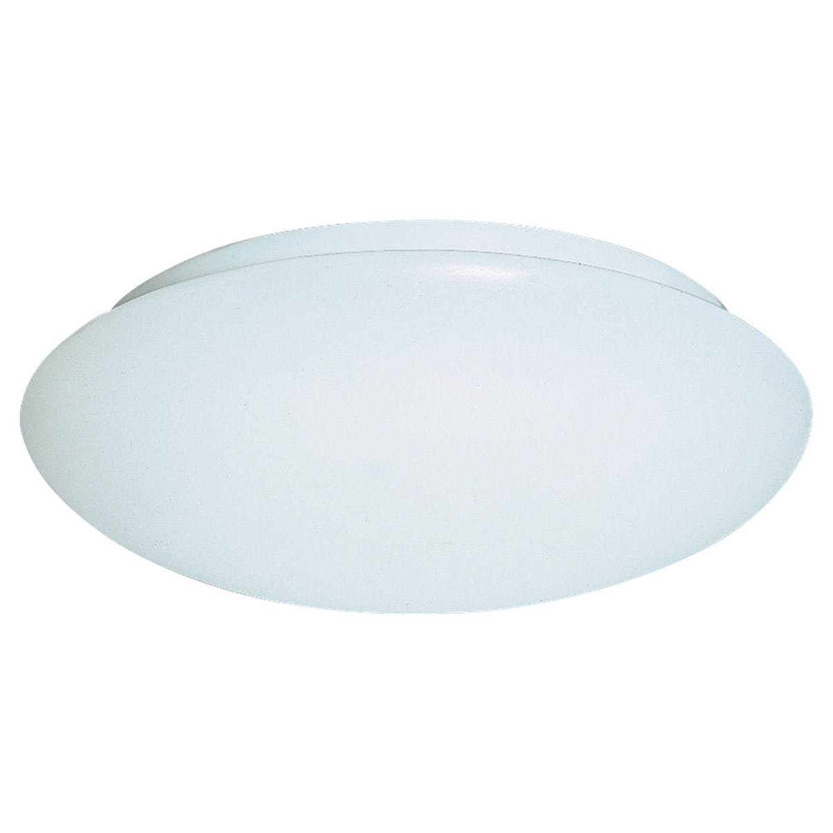 Sea Gull Lighting Holly 1 Light Fluorescent Flush Mount in White 5901BLE-15