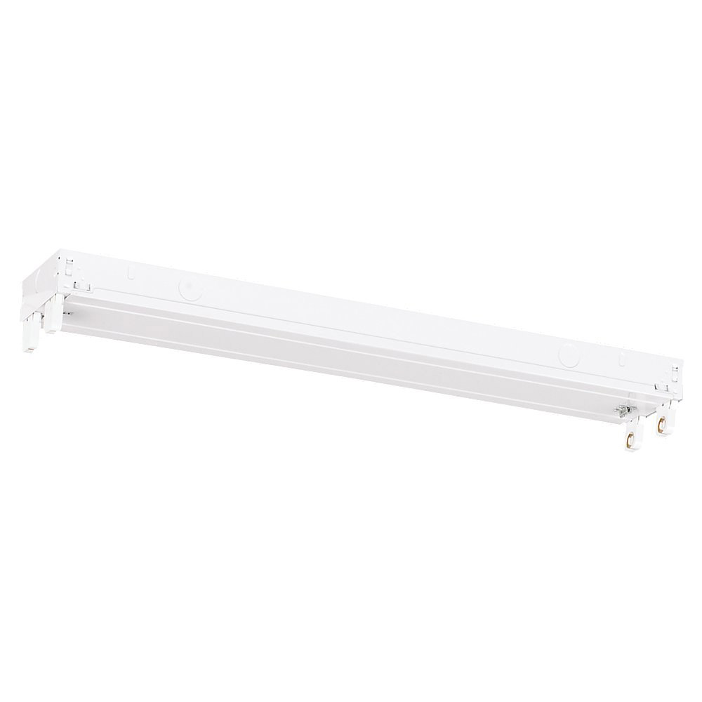 Sea Gull Lighting Signature 2 Light Fluorescent Strip Light in White 59020LE-15 photo