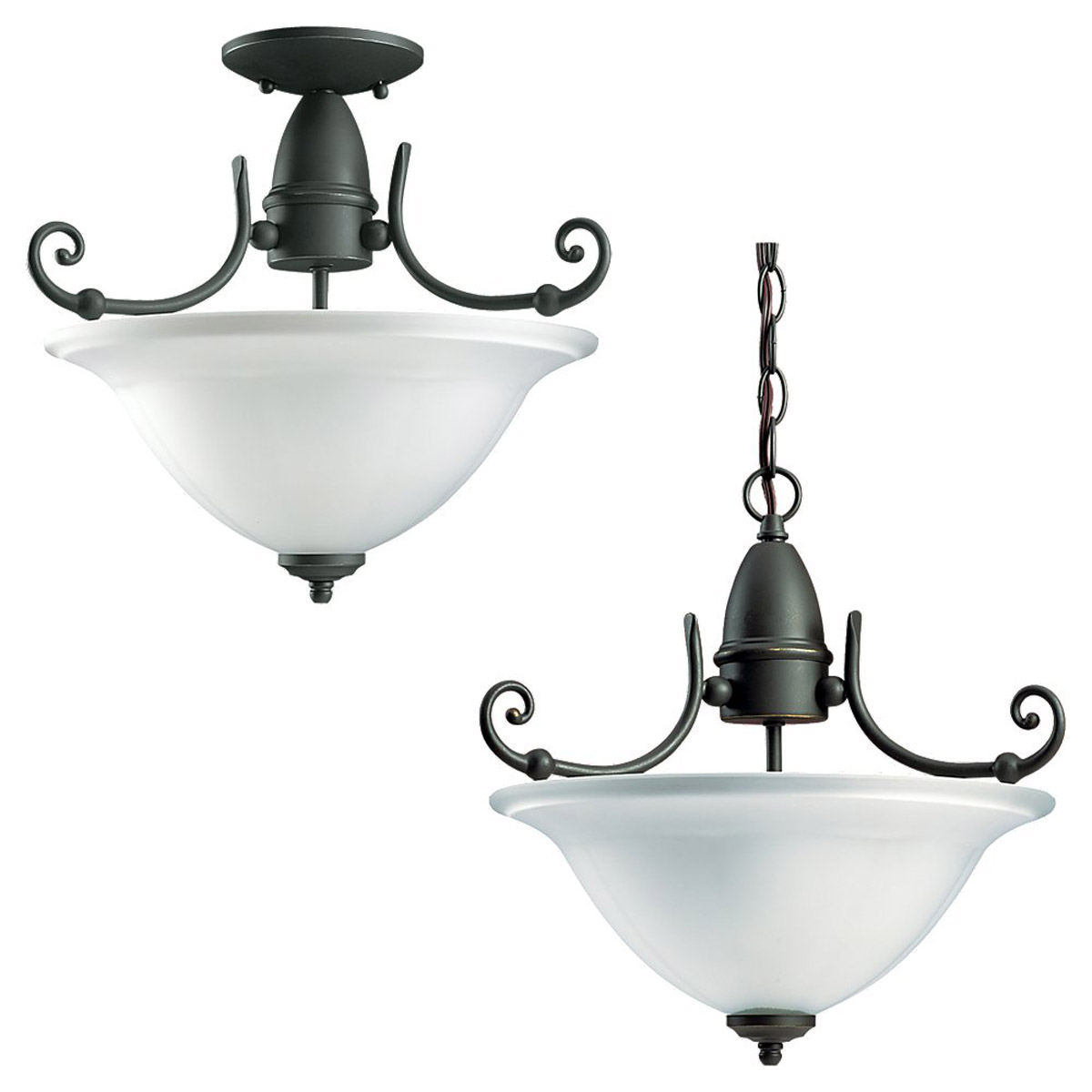 Sea Gull Lighting Canterbury 3 Light Semi-Flush Mount in Antique Bronze 59051BLE-71 photo