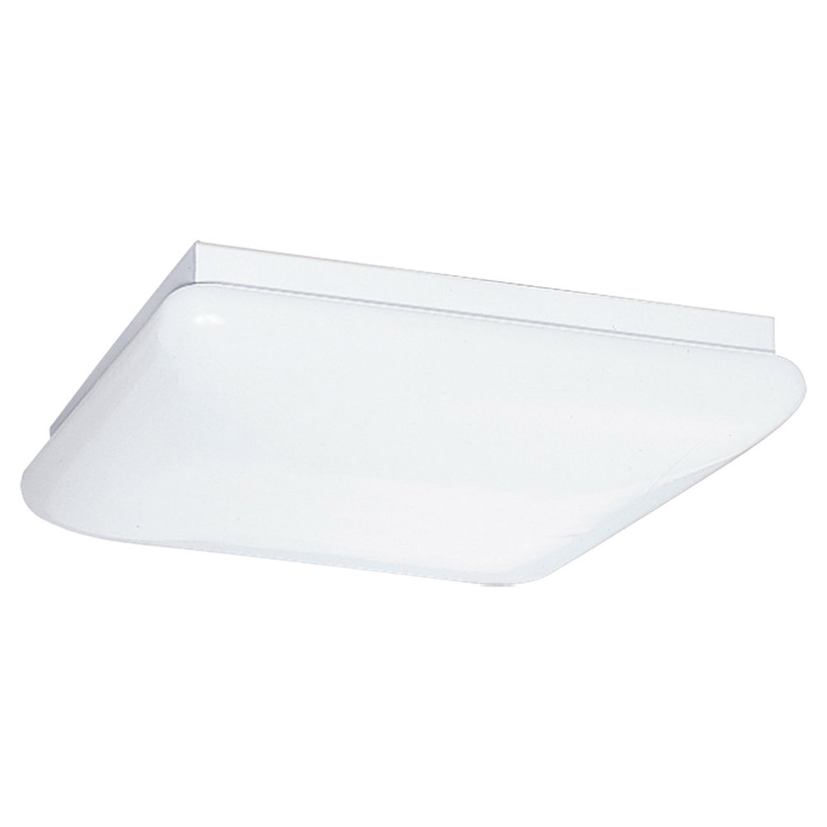 Sea Gull Lighting Signature 2 Light Fluorescent Trim Only in White Plastic 5911-68 photo