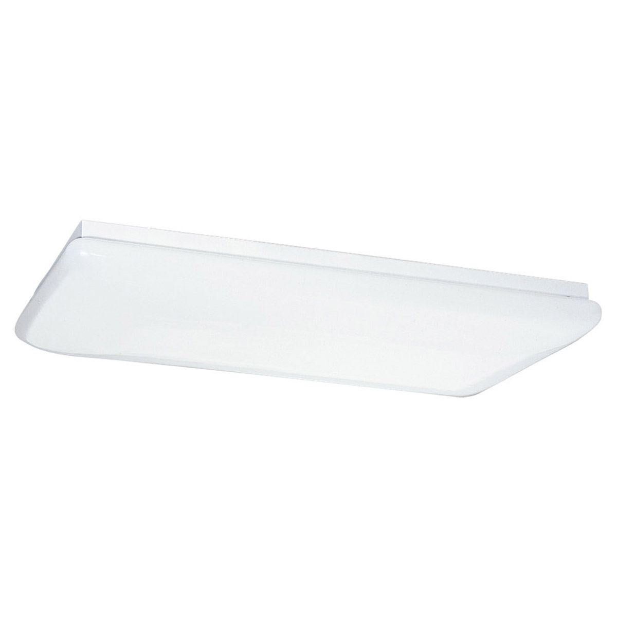 Sea Gull Lighting Signature 4 Light Fluorescent Trim Only in White Plastic 5913-68 photo