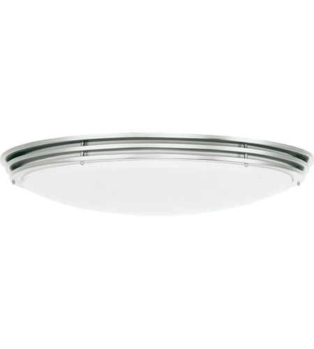 Sea Gull Lighting Nexus 2 Light Fluorescent Flush Mount in Brushed Nickel 59152BLE-962 photo