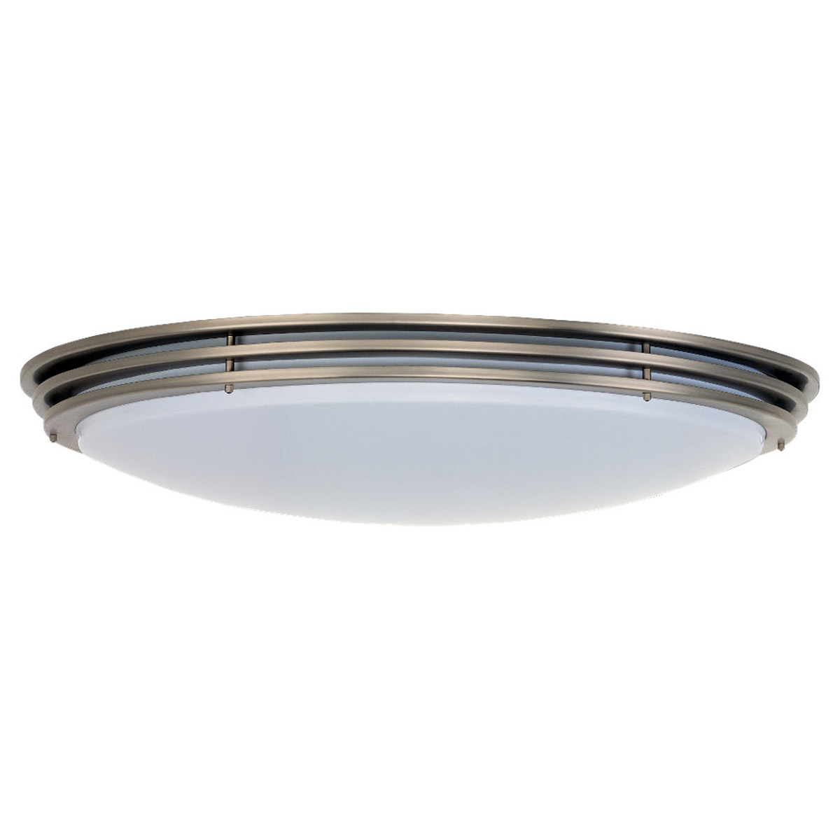 Sea Gull Lighting Nexus 2 Light Fluorescent Flush Mount in Brushed Nickel 59153BLE-962 photo