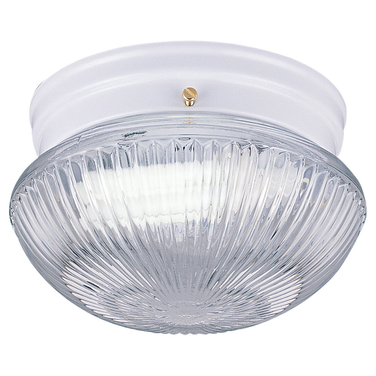 Sea Gull Lighting Webster 1 Light Fluorescent Flush Mount in White 5920BLE-15