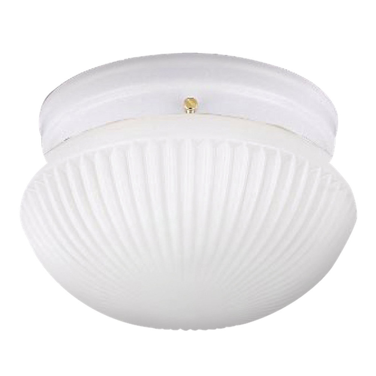 Sea Gull Lighting Webster 1 Light Fluorescent Flush Mount in White 5921BLE-15 photo