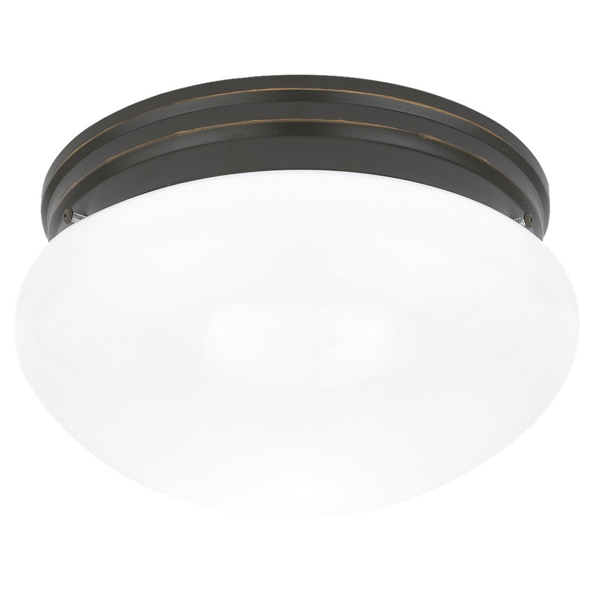 Sea Gull Lighting Webster 1 Light Fluorescent Flush Mount in Heirloom Bronze 5921BLE-782 photo