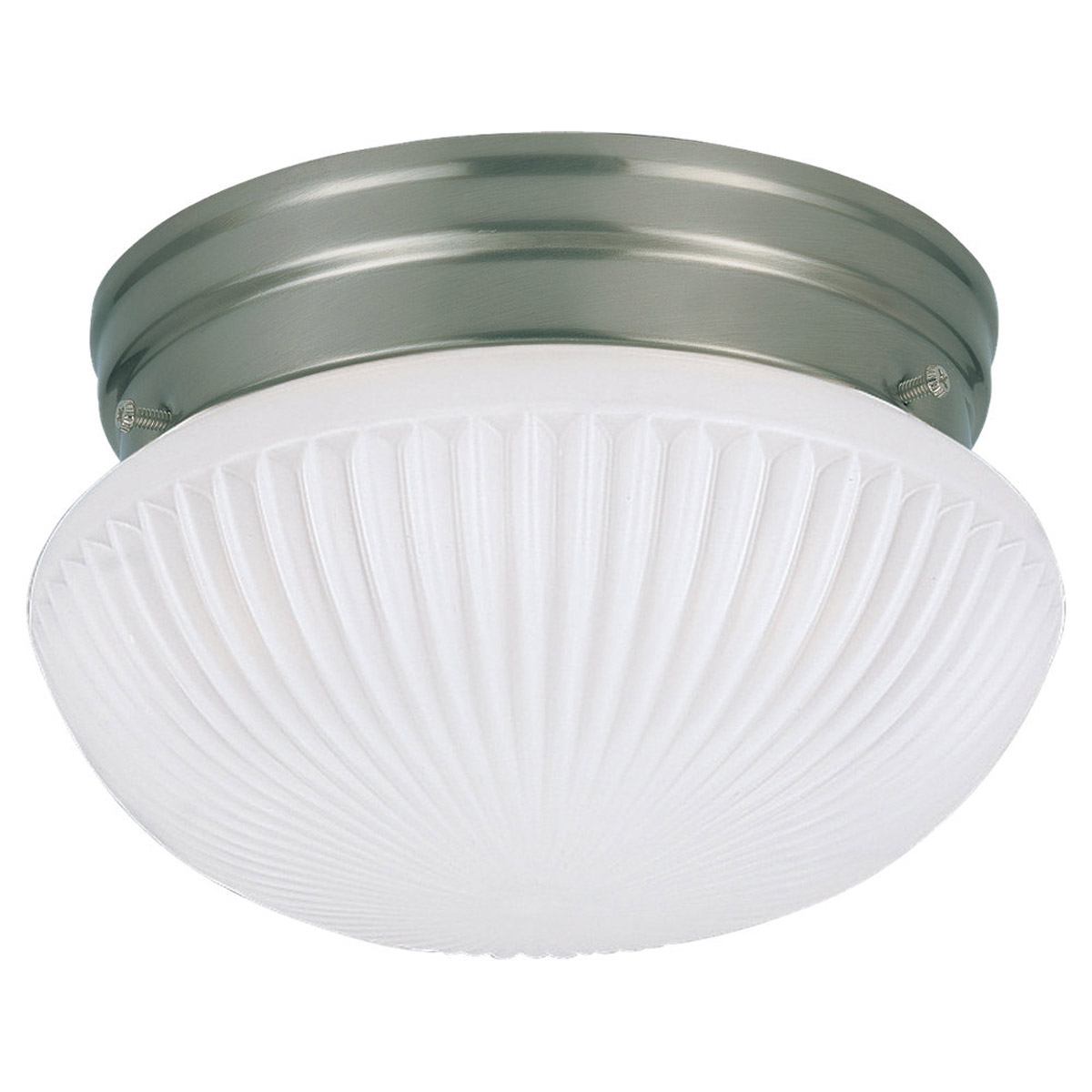 Sea Gull Lighting Webster 1 Light Fluorescent Flush Mount in Brushed Nickel 5921BLE-962
