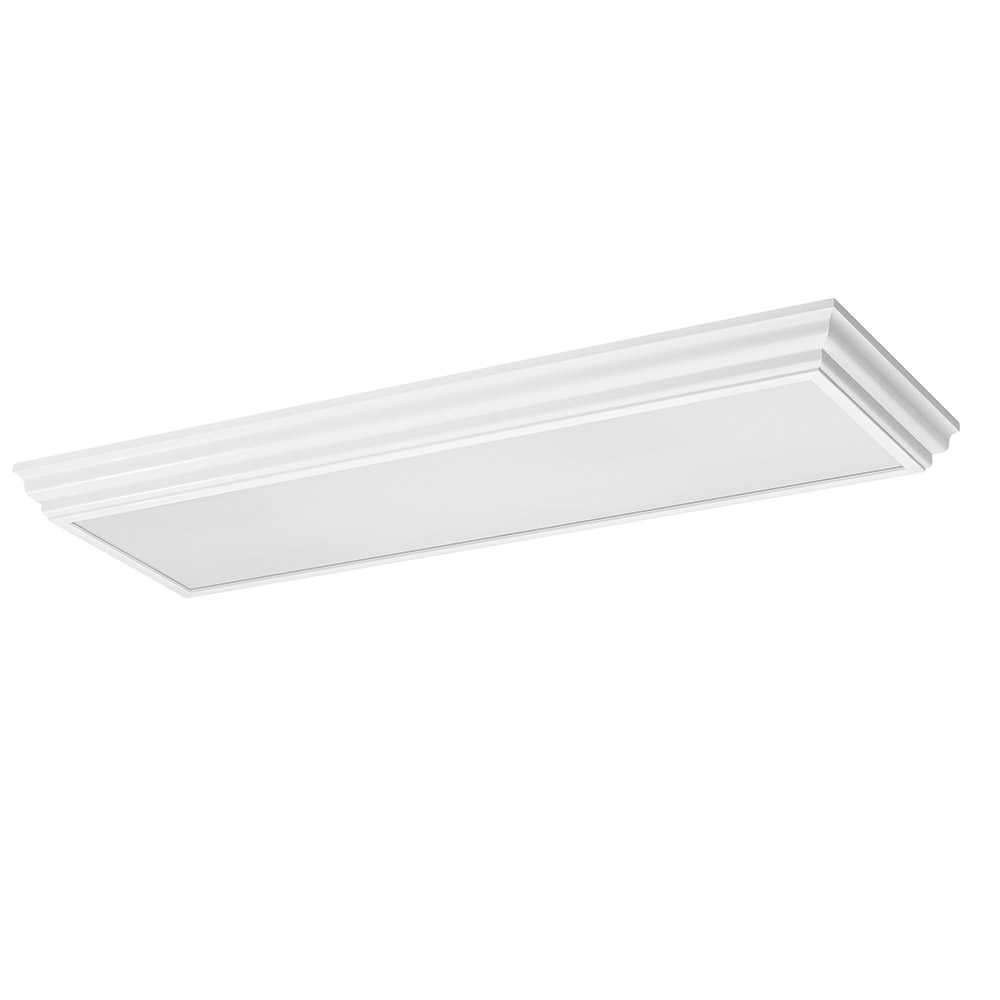 Sea Gull 59361LE-15 Drop Lens Fluorescent 4 Light 19 inch White Flush Mount Ceiling Light photo
