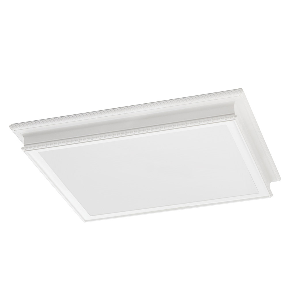 Sea Gull Drop Lens Fluorescent 4 Light Flush Mount in White 59362LE-15