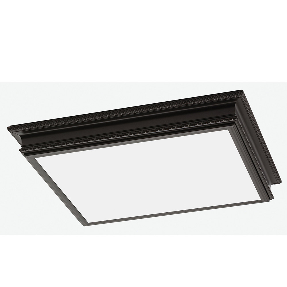 Sea Gull Drop Lens Fluorescent 4 Light Flush Mount in Oil Rubbed Bronze 59362LE-790 photo