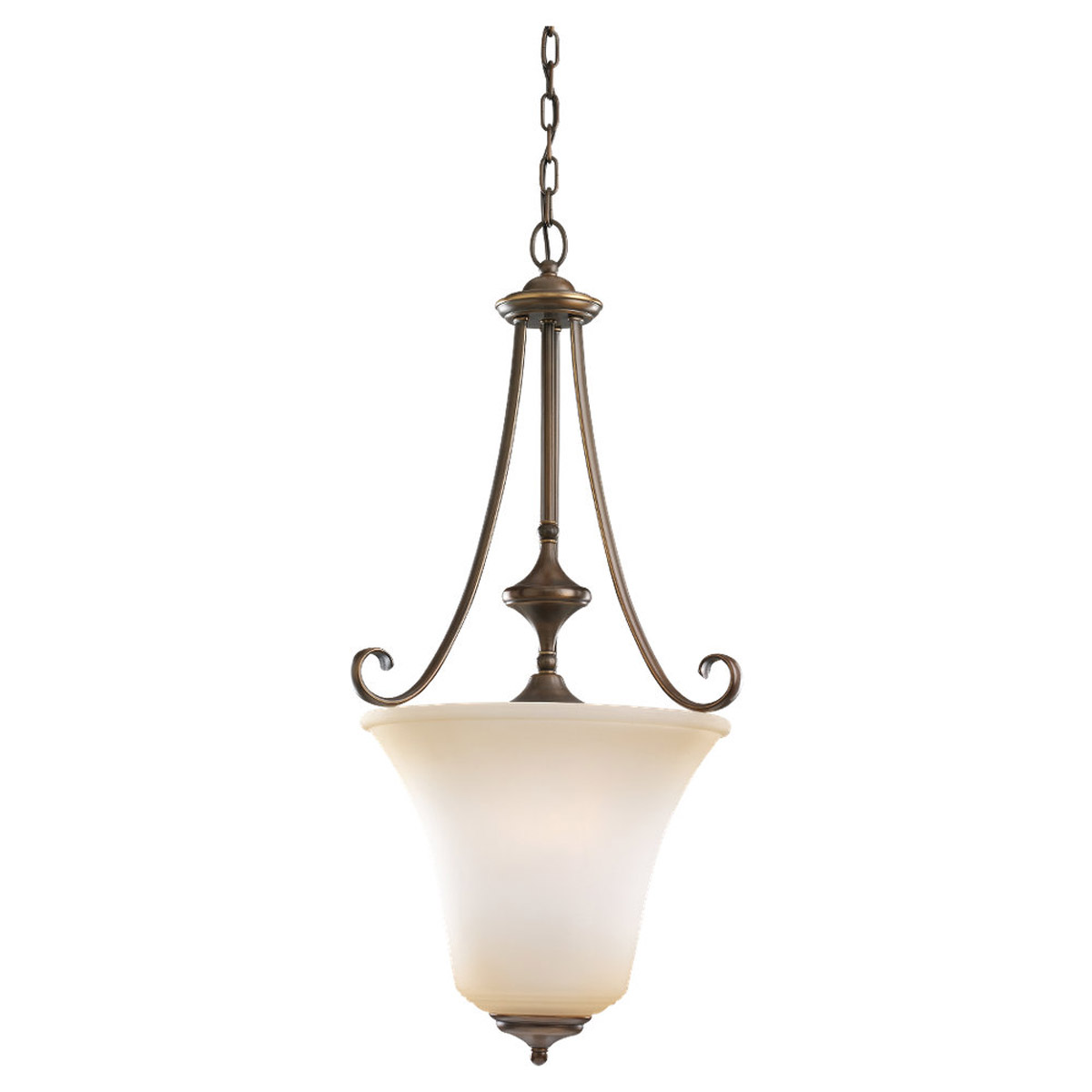 Sea Gull 59380BLE-829 Parkview 3 Light 18 inch Russet Bronze Foyer Pendant Ceiling Light in Ginger Glass photo