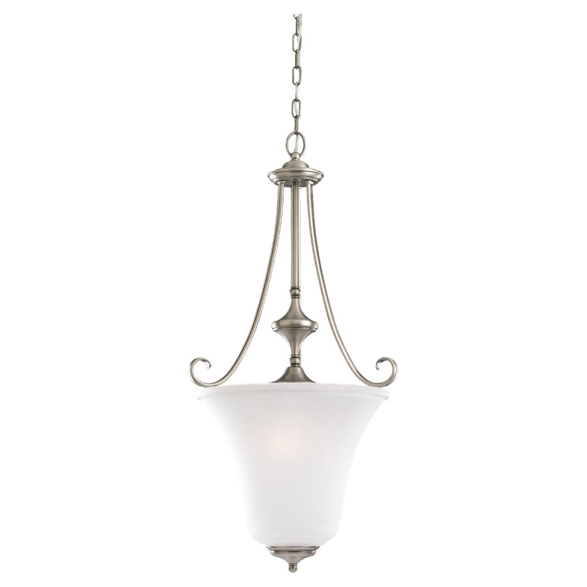 Sea Gull Lighting Parkview 3 Light Foyer Pendant in Antique Brushed Nickel 59380BLE-965