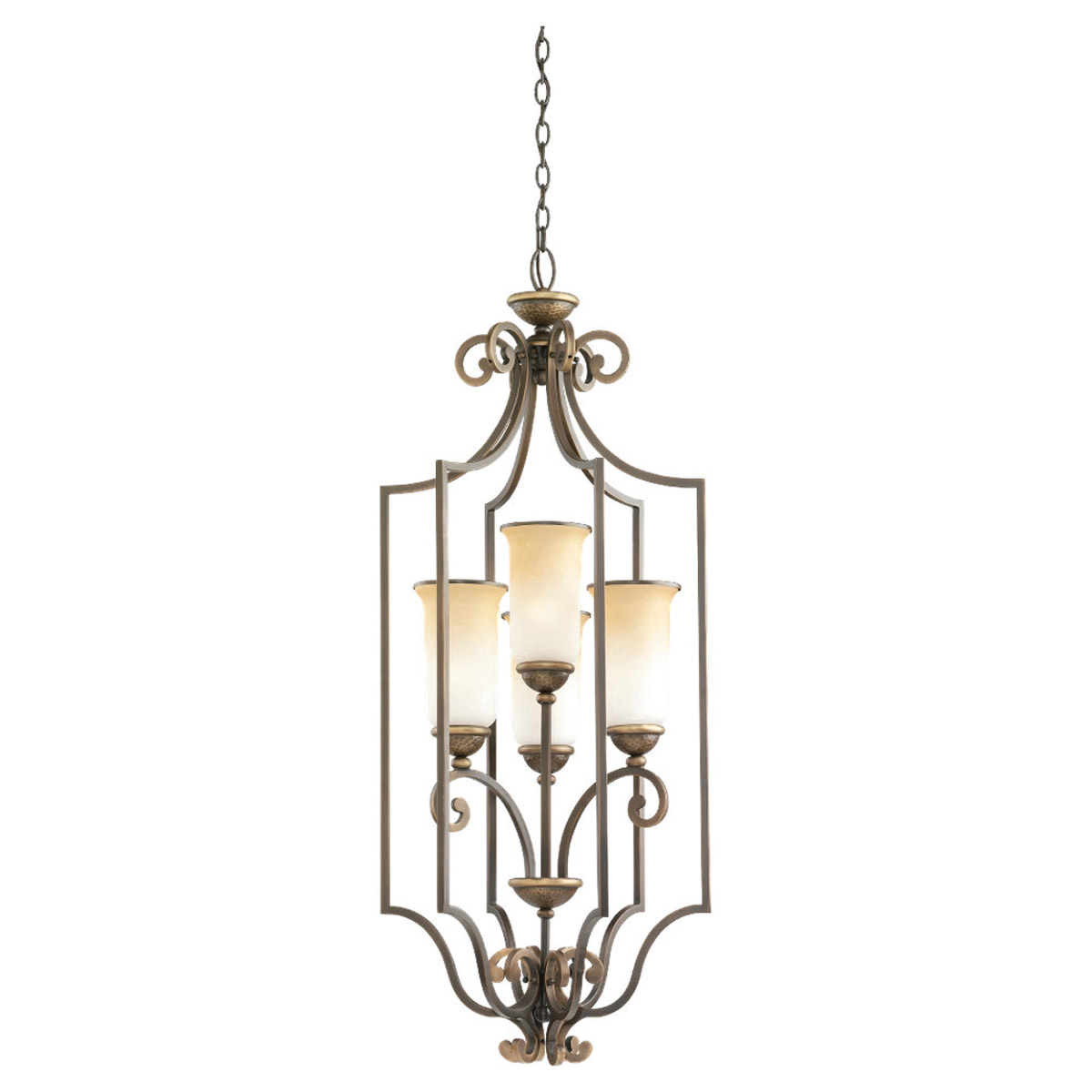 Sea Gull Lighting Brandywine 4 Light Fluorescent Hall / Foyer Pendant in Antique Bronze 59431BLE-71