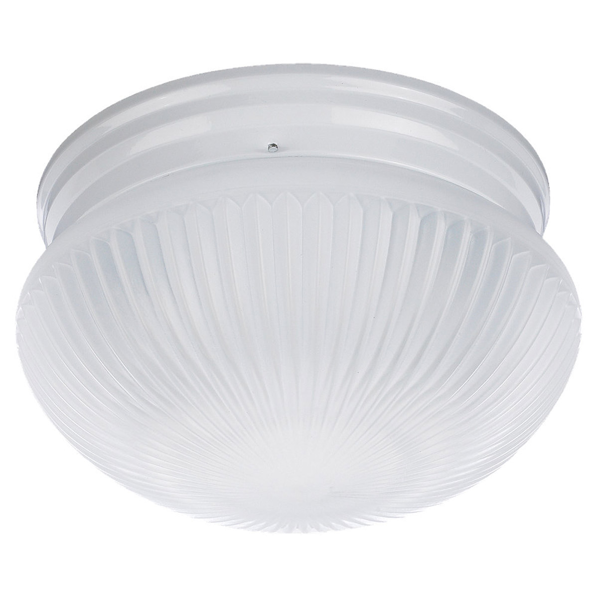 Sea Gull Lighting Webster 2 Light Fluorescent Flush Mount in White 59440BLE-15