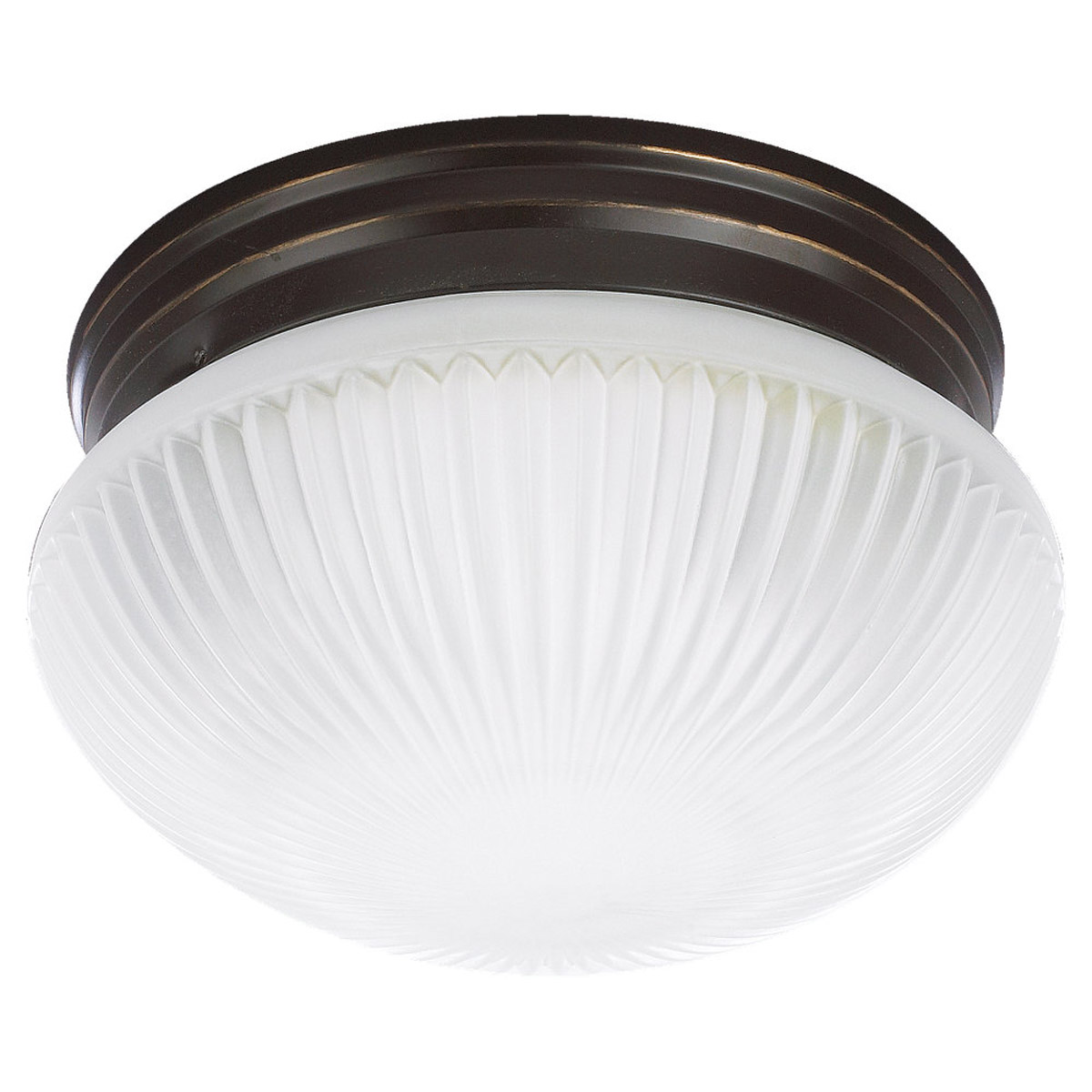 Sea Gull Lighting Webster 2 Light Fluorescent Flush Mount in Heirloom Bronze 59440BLE-782 photo