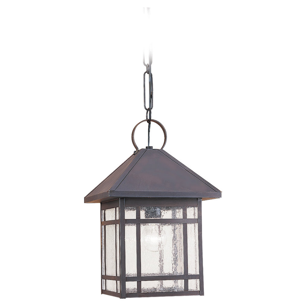 Sea Gull Lighting Largo 1 Light Outdoor Pendant in Antique Bronze 60010-71