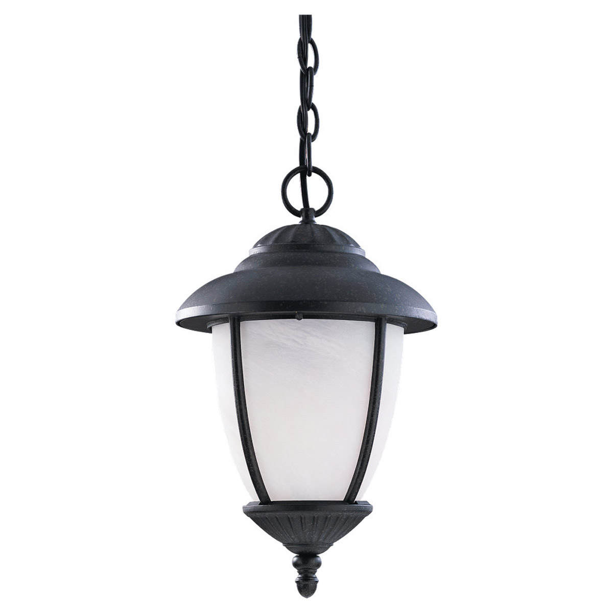 Sea Gull Lighting Yorktown 1 Light Outdoor Pendant in Forged Iron 60048-185