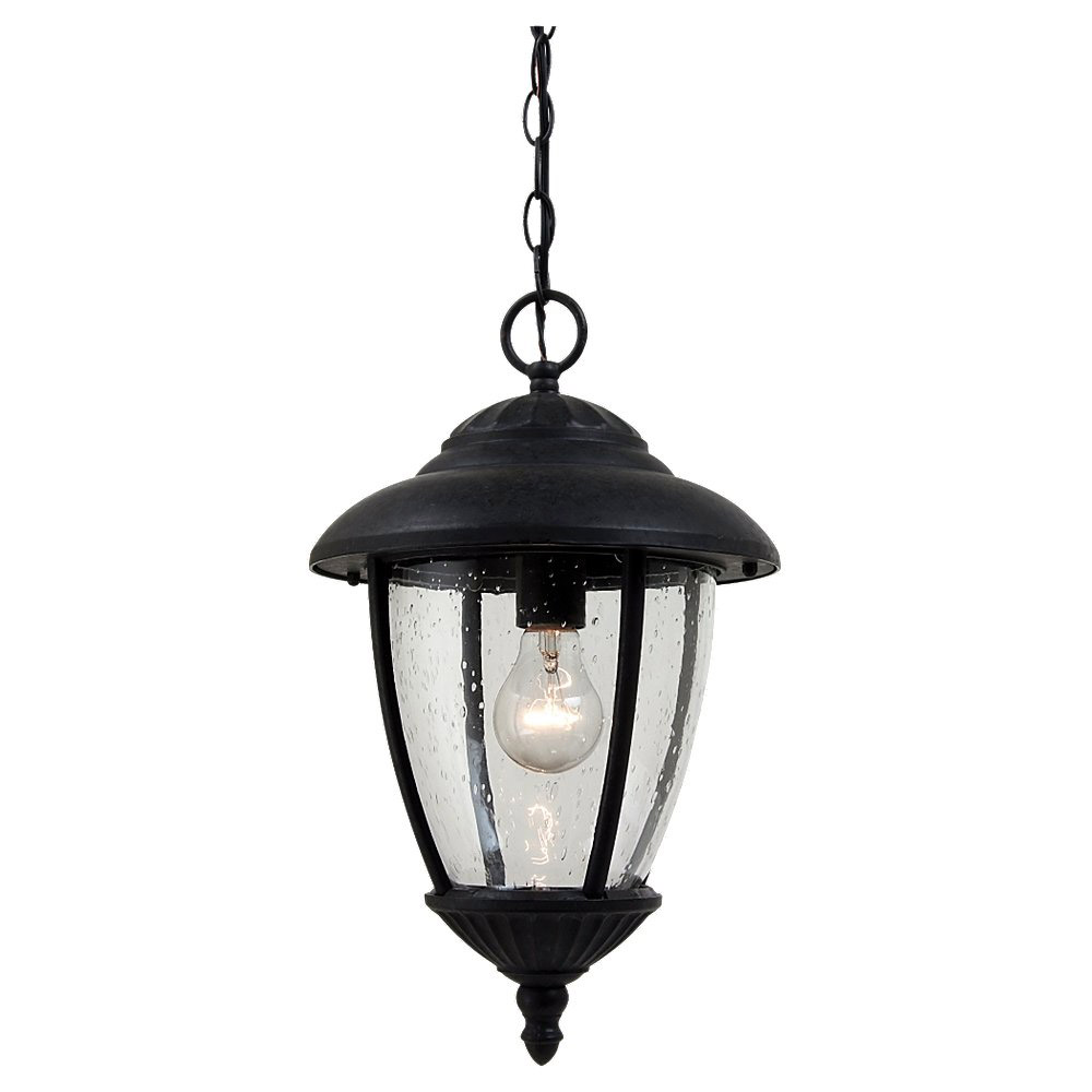 Sea Gull Lighting Lambert Hill 1 Light Outdoor Pendant in Oxford Bronze 60068-746