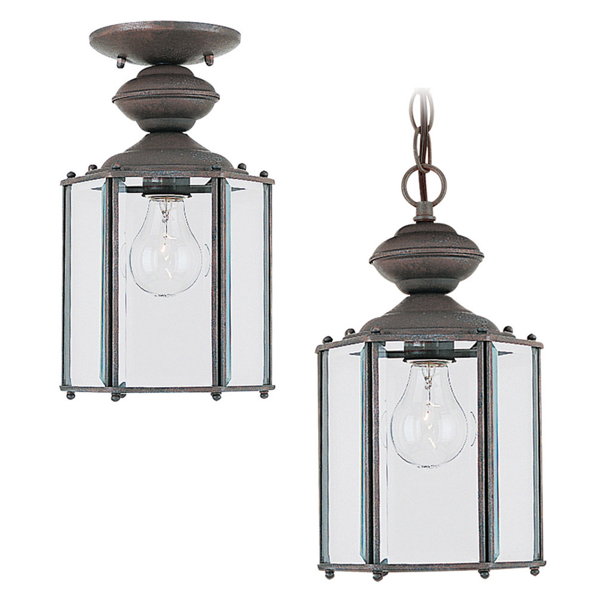 Sea Gull Lighting Classico 1 Light Outdoor Pendant in Sienna 6008-26