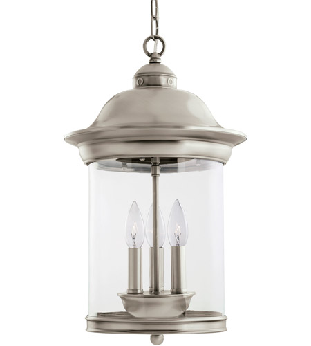 Sea Gull Lighting Hermitage 3 Light Outdoor Pendant in Antique Brushed Nickel 60081-965 photo