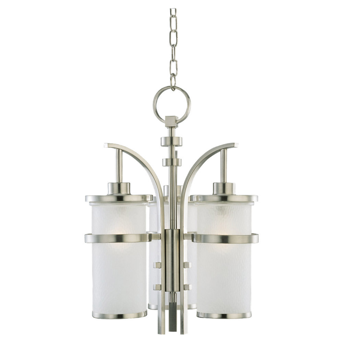 Sea Gull Lighting Eternity 3 Light Outdoor Pendant in Brushed Nickel 60115-962 photo