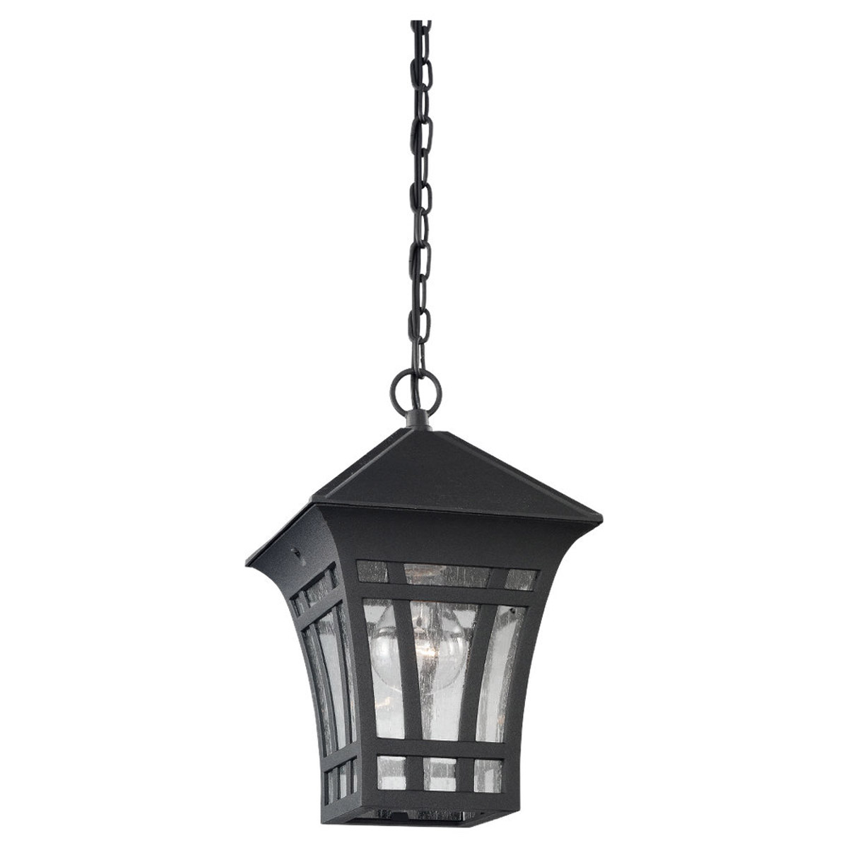 Sea Gull 60131-12 Herrington 1 Light 7 inch Black Outdoor Pendant photo