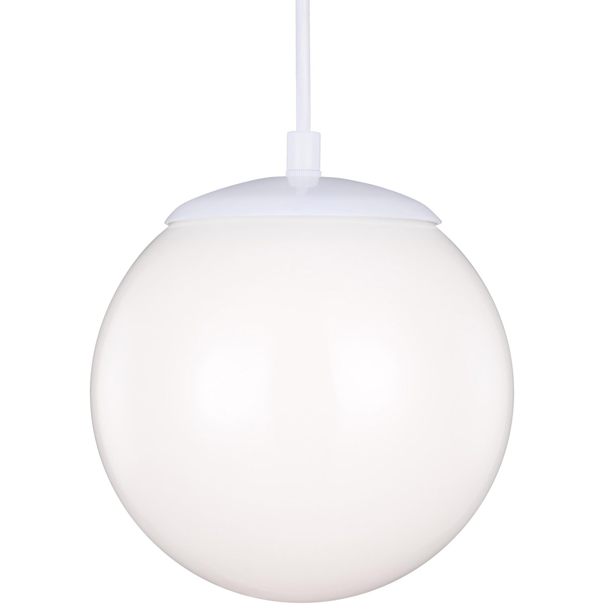 Sea Gull 6018-15 Hanging Globe 1 Light 8 inch White Pendant Ceiling Light photo