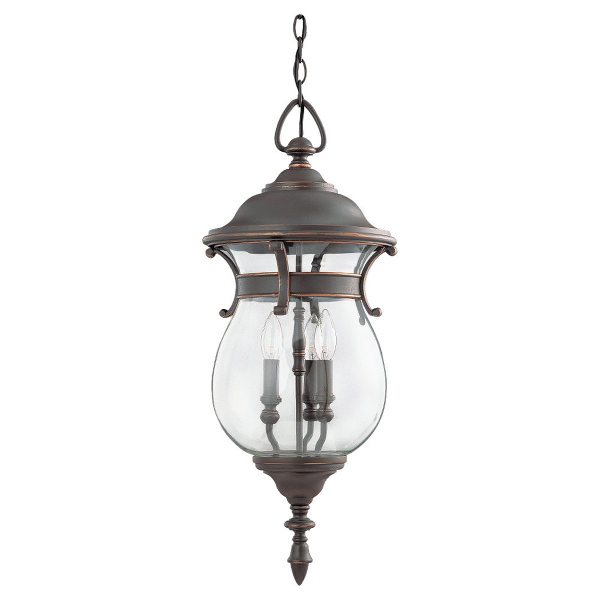 Sea Gull Lighting Triumphant 3 Light Outdoor Pendant in Mojave Luster 60225-764 photo