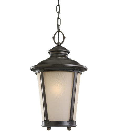 Sea Gull Lighting Cape May 1 Light Outdoor Pendant in Burled Iron 60240-780