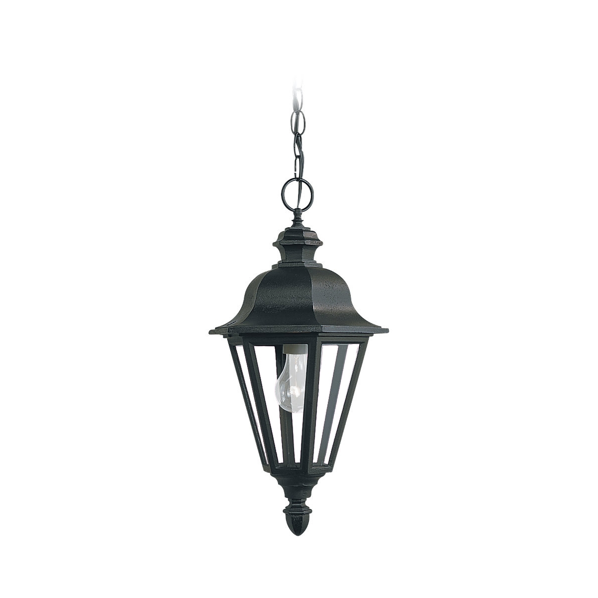 Sea Gull Lighting Brentwood 1 Light Outdoor Pendant in Black 6025-12 photo