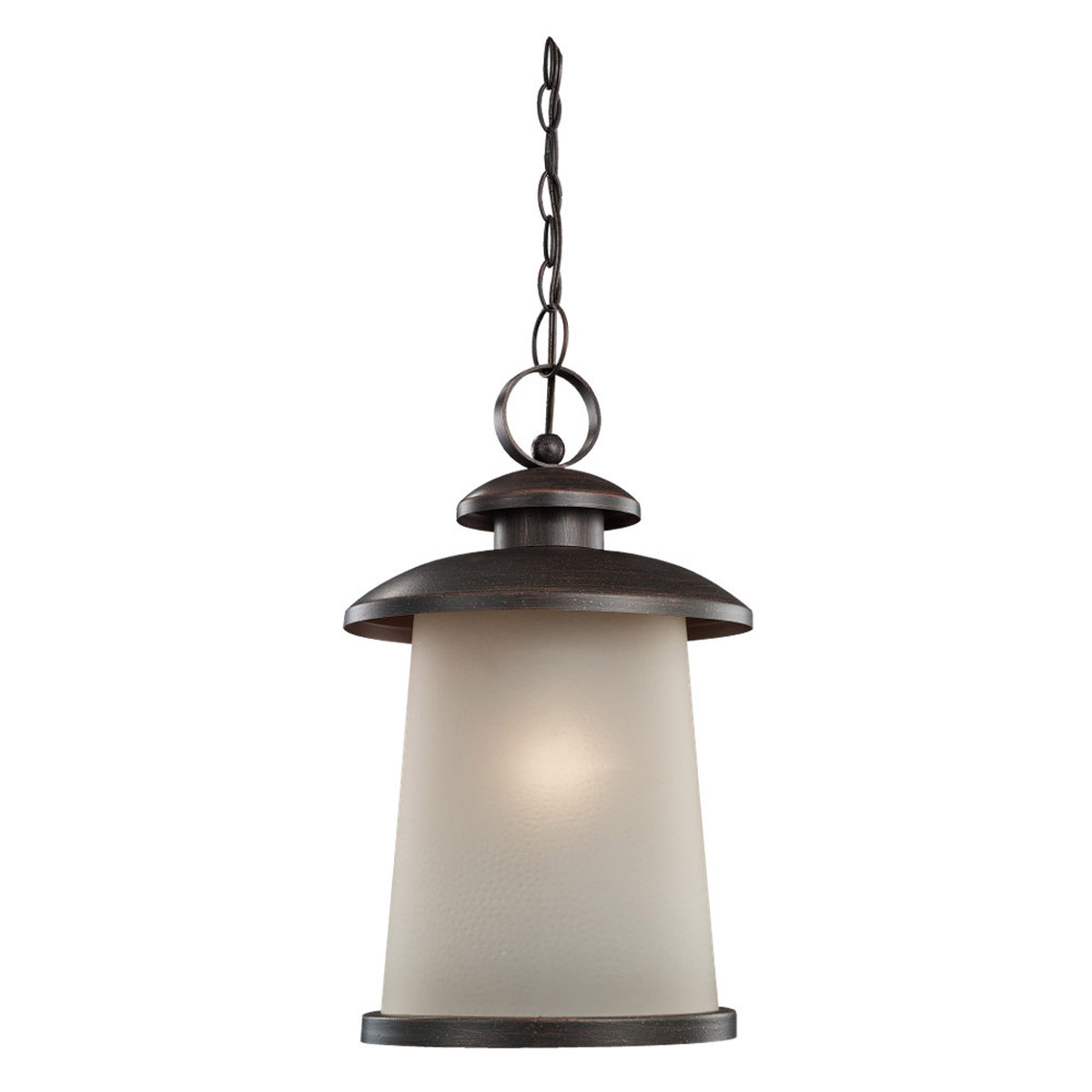 Sea Gull Lighting 59th Street 1 Light Outdoor Pendant in Textured Rust Patina 60330-08 photo