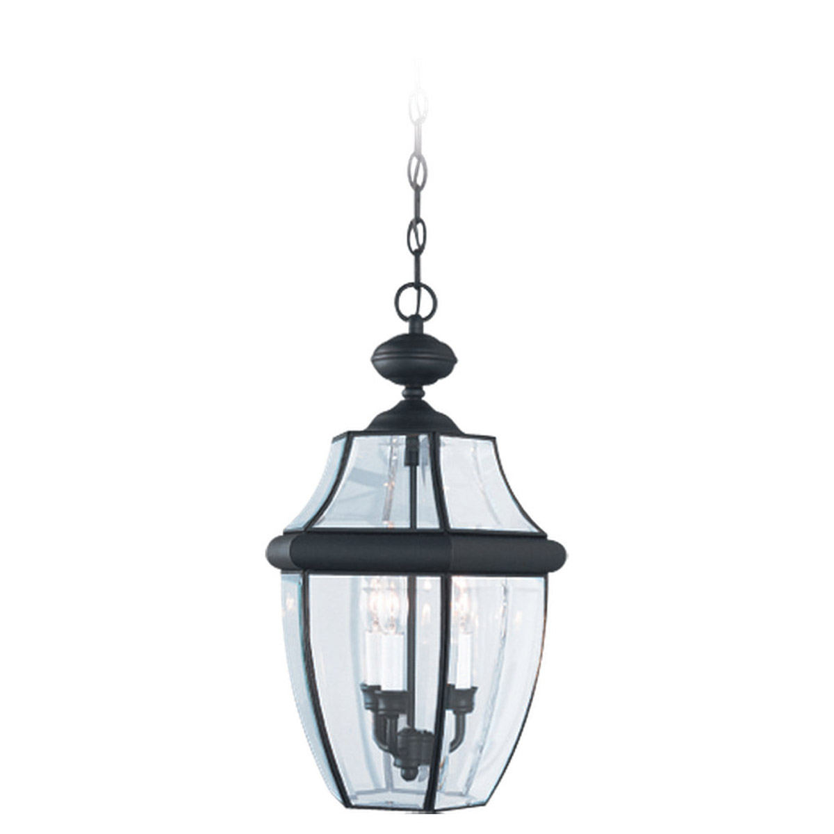 Sea Gull Lighting Lancaster 3 Light Outdoor Pendant in Black 6039-12