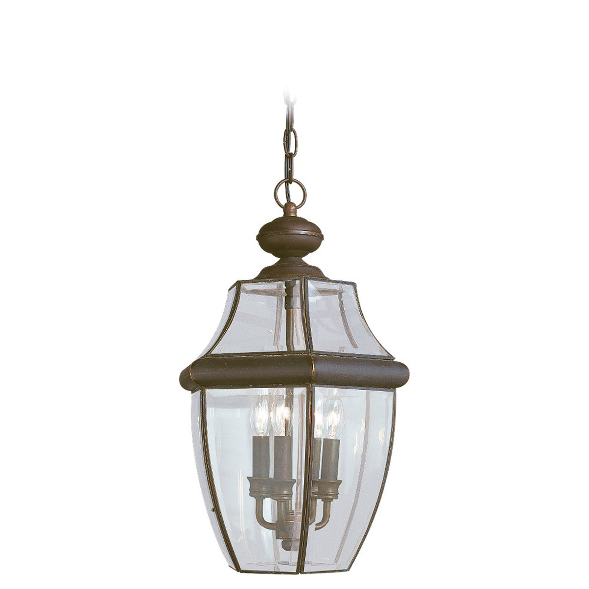 Sea Gull Lighting Lancaster 3 Light Outdoor Pendant in Antique Bronze 6039-71