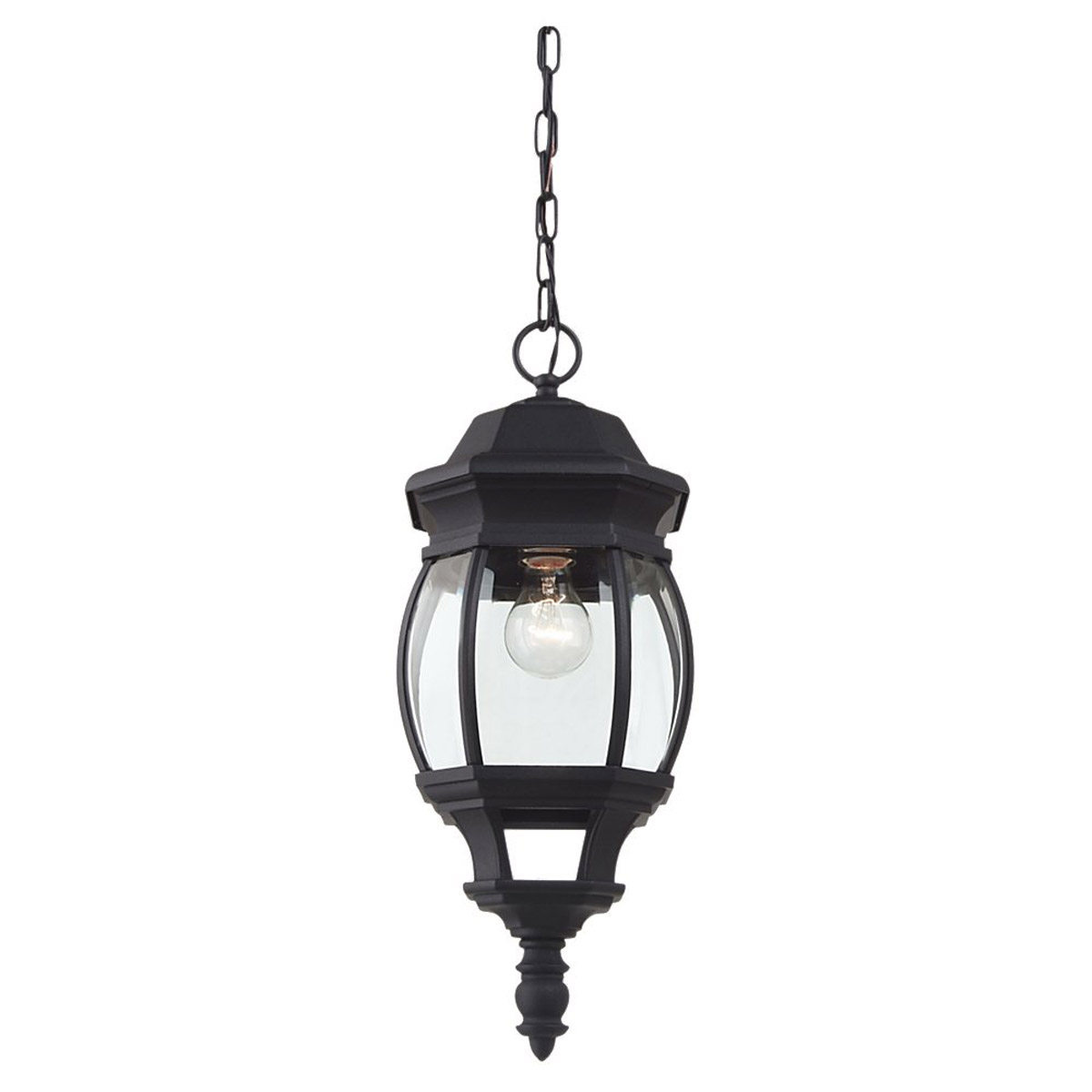 Sea Gull Lighting Wynfield 1 Light Outdoor Pendant in Black 60400-12