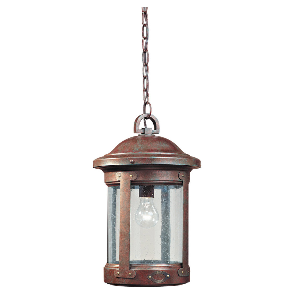 Sea Gull Lighting HSS CO-OP 1 Light Outdoor Pendant in Weathered Copper 6041-44