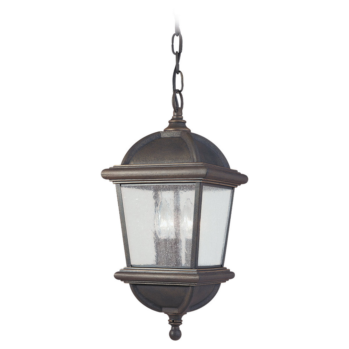 Sea Gull Lighting Charleston 3 Light Outdoor Pendant in Gold Patina 6043-85