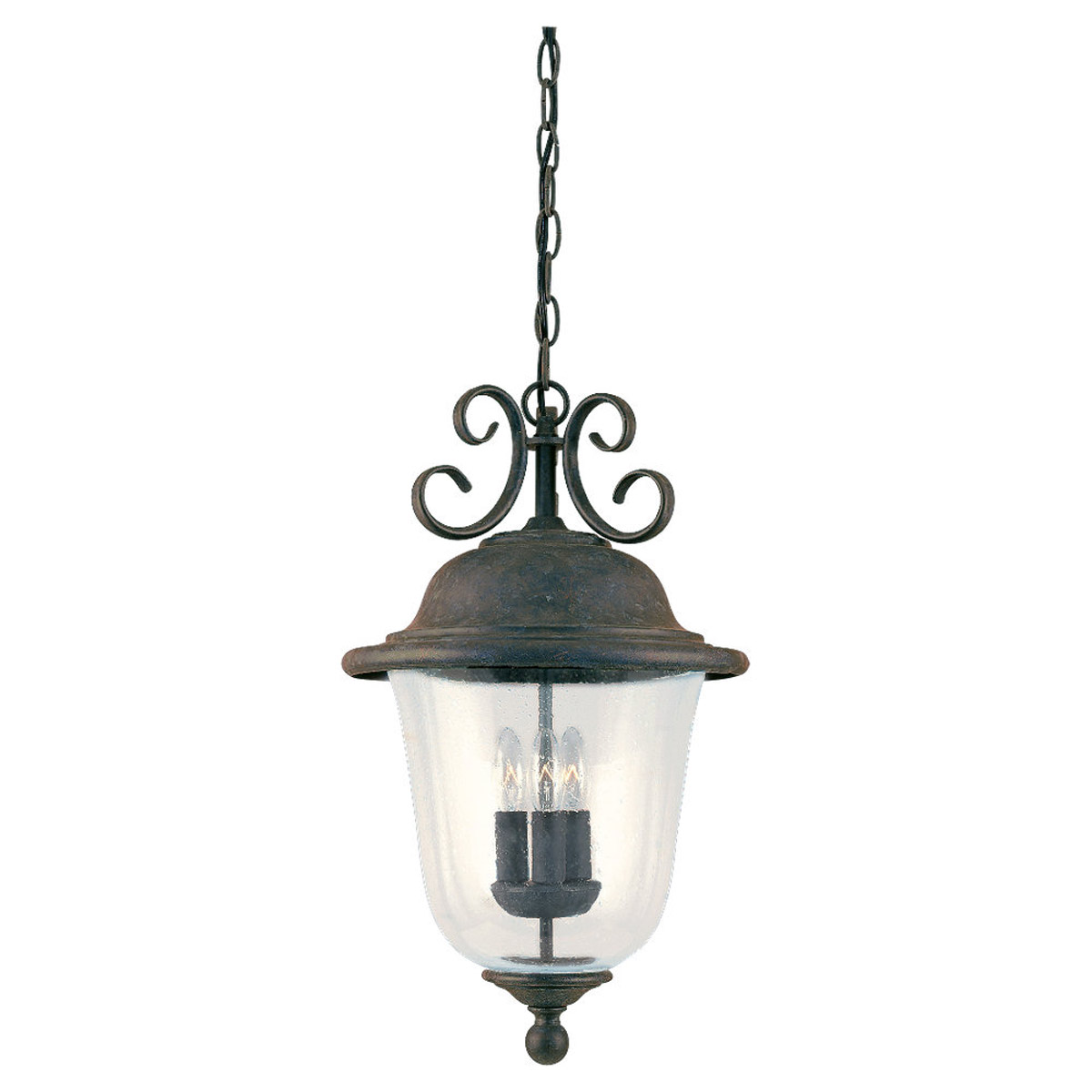 Sea Gull Lighting Trafalgar 3 Light Outdoor Pendant in Oxidized Bronze 6059-46
