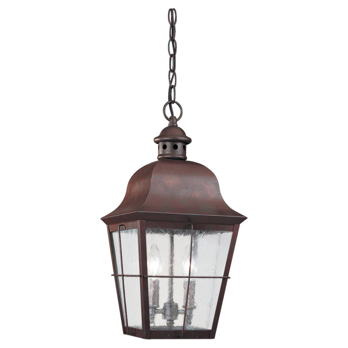 Sea Gull Lighting Chatham 2 Light Outdoor Pendant in Weathered Copper 6062-44