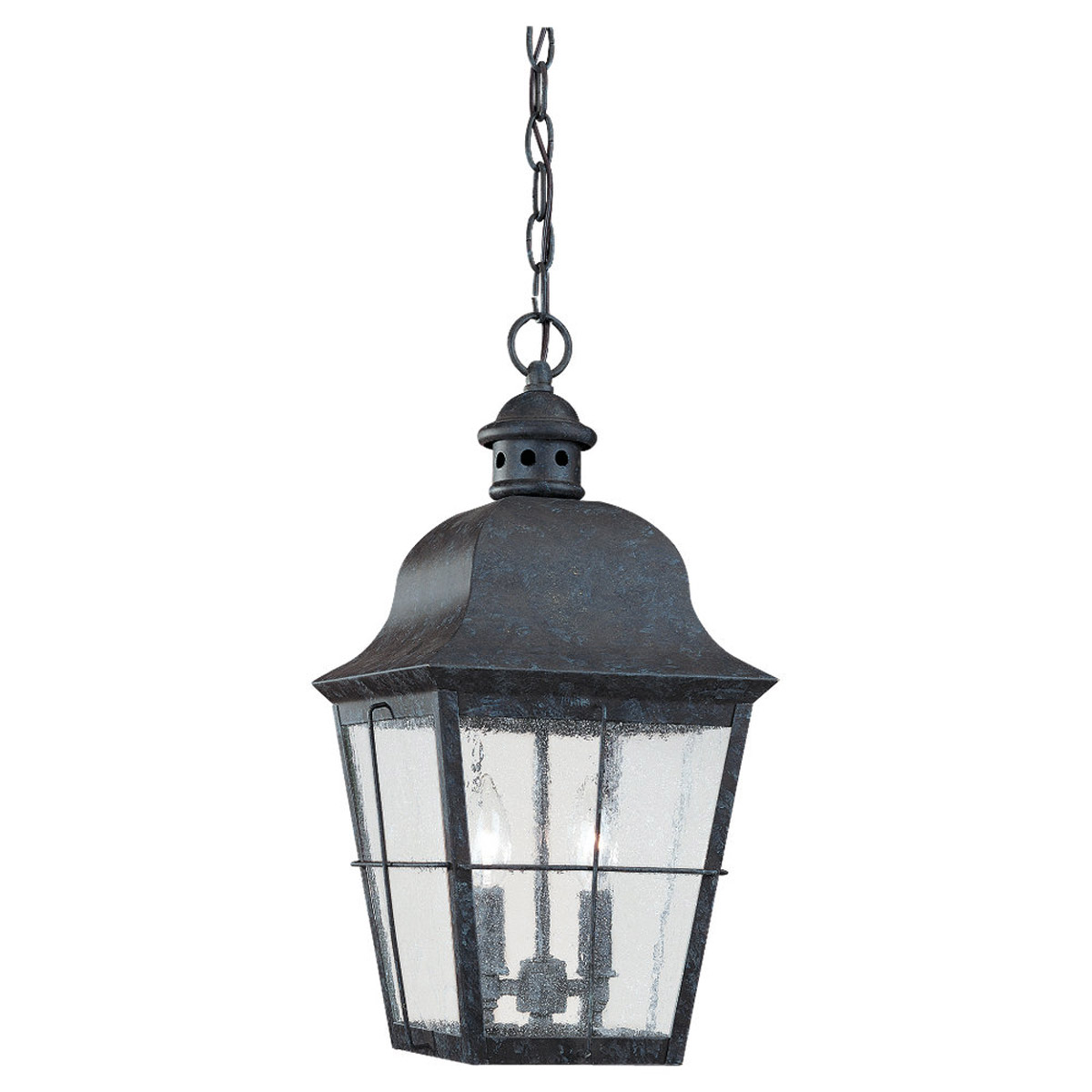 Sea Gull Lighting Chatham 2 Light Outdoor Pendant in Oxidized Bronze 6062-46