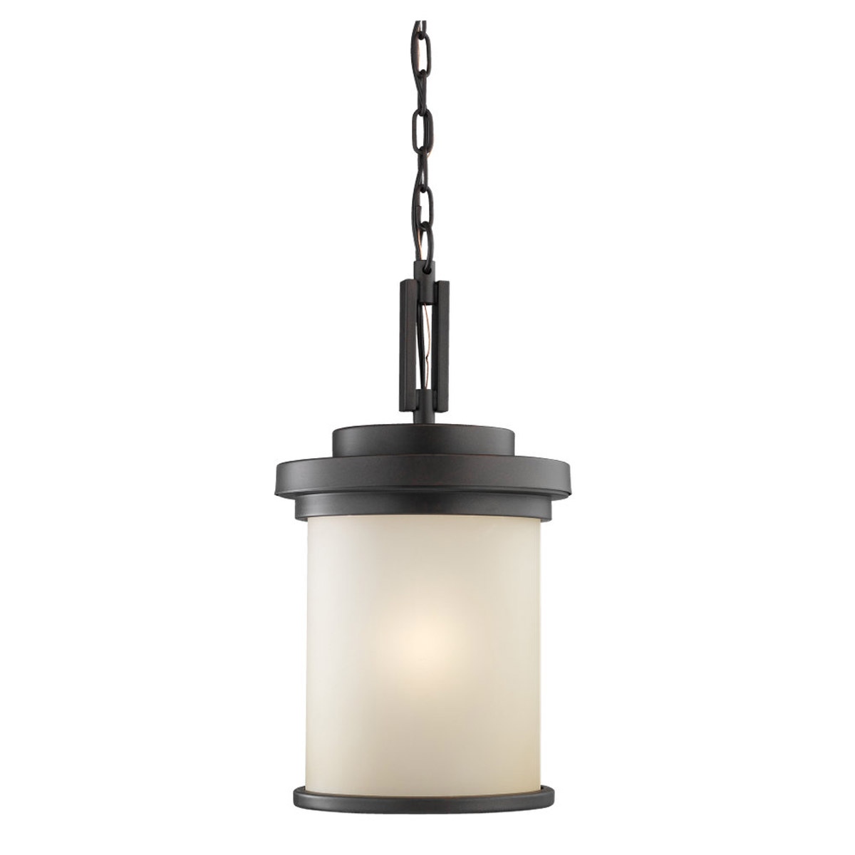 Sea Gull Lighting Winnetka 1 Light Outdoor Pendant in Misted Bronze 60660-814 photo