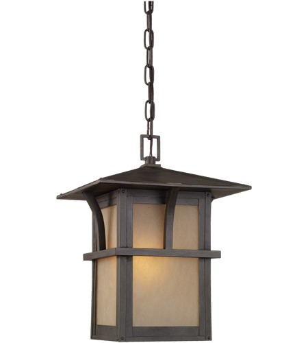 Sea Gull Lighting Medford Lakes 1 Light Outdoor Pendant in Statuary Bronze 60880-51 photo