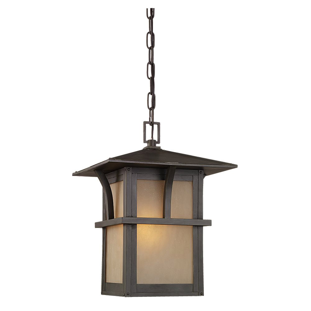 Sea Gull Lighting Medford Lakes 1 Light Outdoor Pendant in Statuary Bronze 60880BLE-51