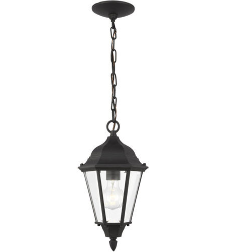 Sea Gull Lighting Bakersville 1 Light Outdoor Pendant in Black 60938-12