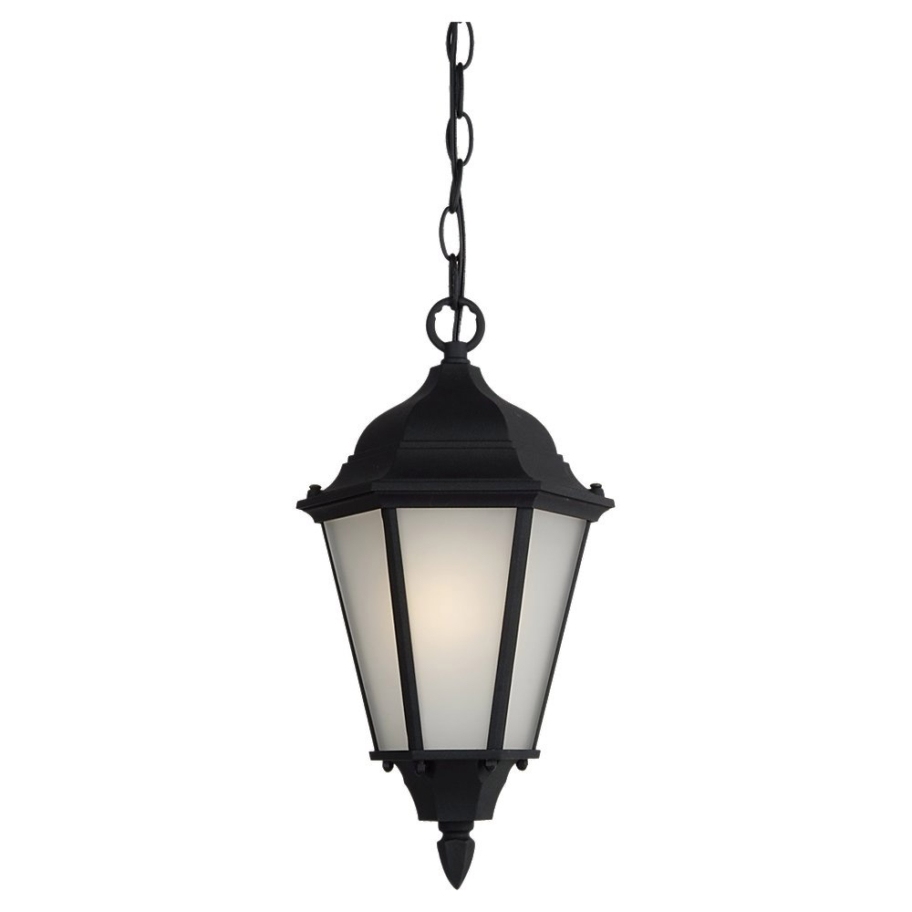 Sea Gull Lighting Bakersville 1 Light Outdoor Pendant in Black 60938BLE-12