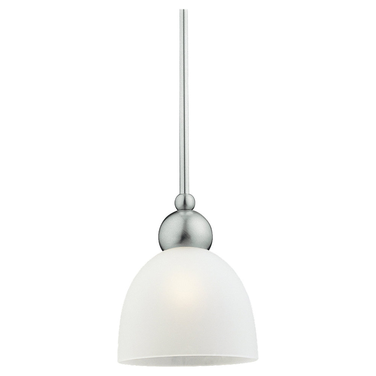 Sea Gull Lighting Metropolis 1 Light Mini Pendant in Brushed Nickel 61035-962