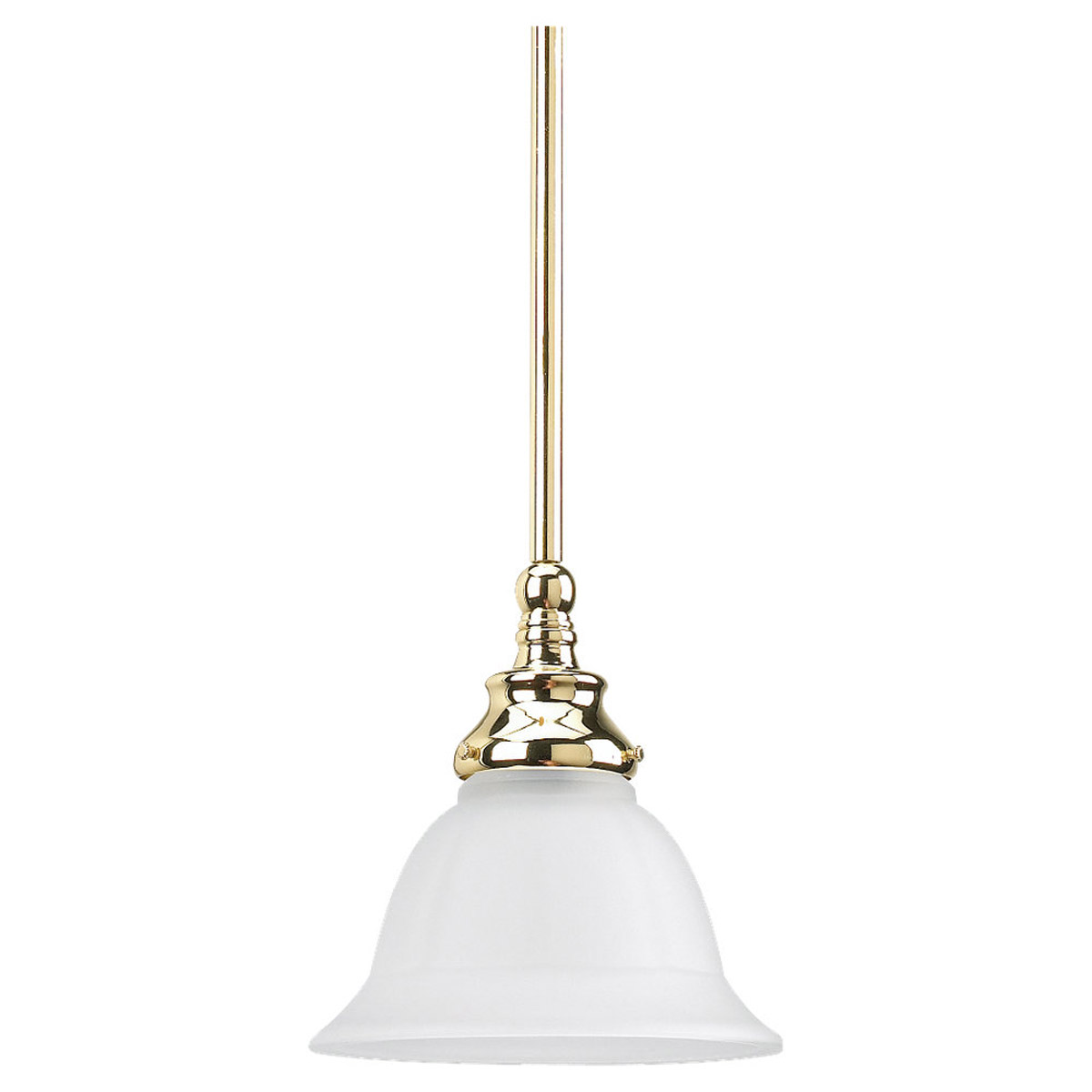 Sea Gull Lighting Canterbury 1 Light Pendant in Polished Brass 61050-02